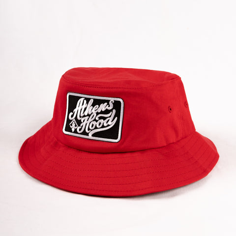 "A.H.B. RED ""ATHENS HOOD""  BUCKET HAT"