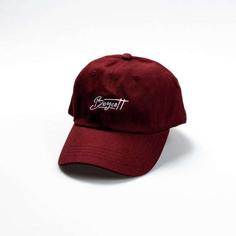 "A.H.B. MAROON ""EMBROIDERED BOYCOTT"""