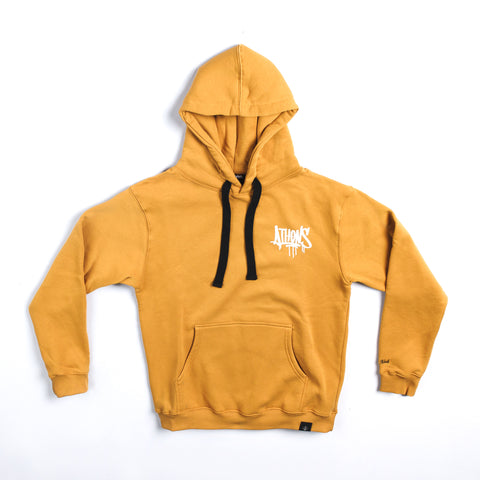 "A.H.B. MUSTARD ""ATHENS TAG"" HOODIE"