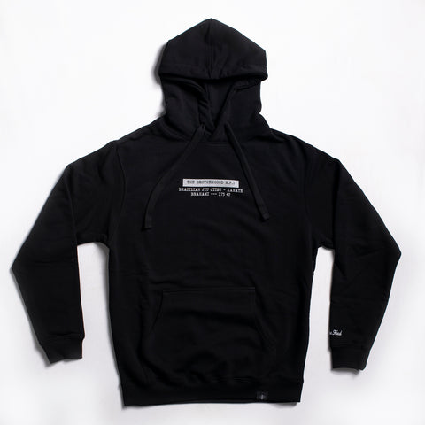 "A.H.B. X THE BROTHERHOOD M.F.T. ""17342"" BLACK HOODIE"