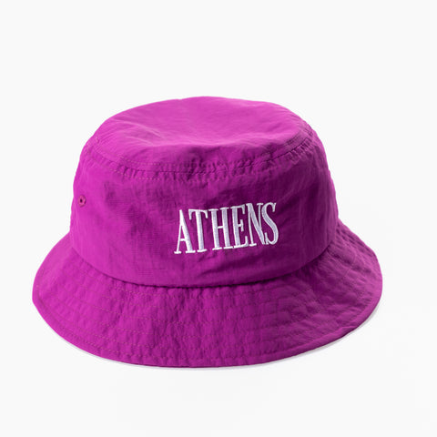 "A.H.B. PURPLE ""ATHENS"" WATER REPELLENT BUCKET HAT COD : 023-049-"