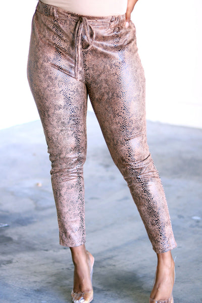 Run Wild Suede Jogger Pants