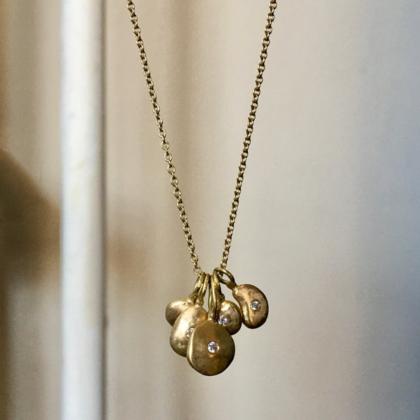 five pebble charm necklace
