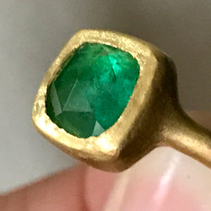 square emerald ring