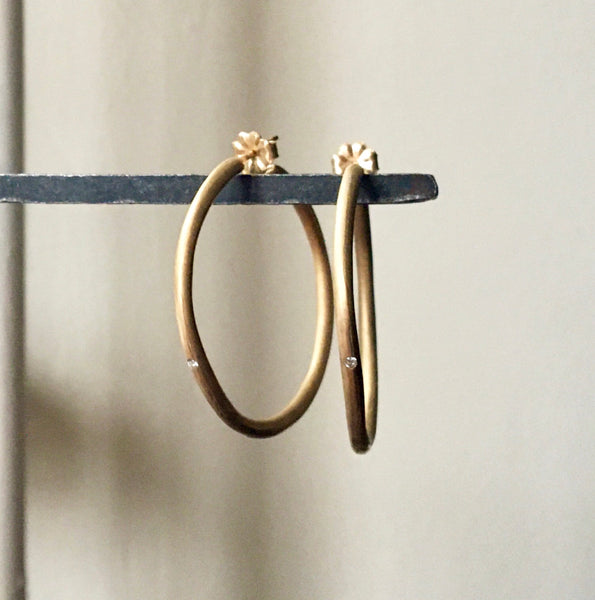 perfect hoops with diamonds