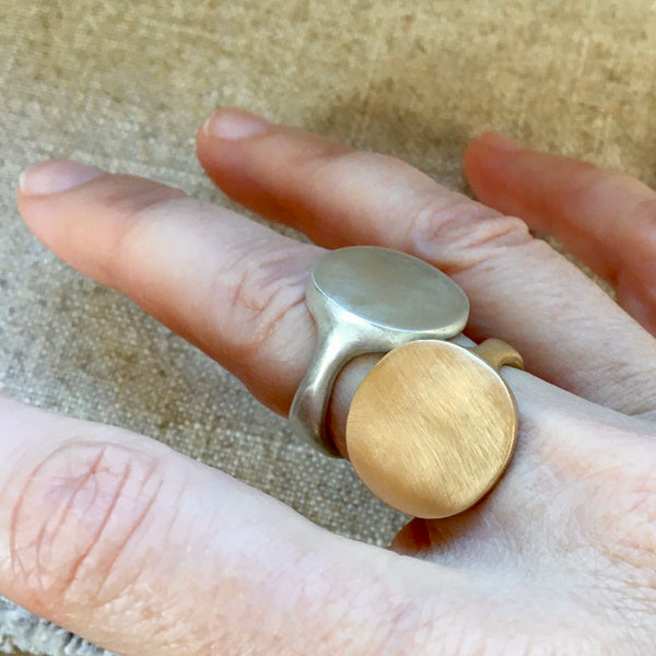 mirror signet ring