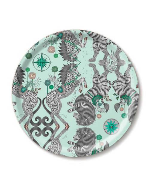 Caspian Teal Round Tray
