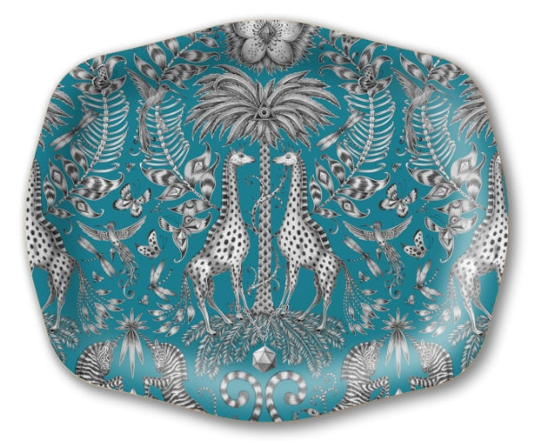 Kruger Turquoise Medium Arched Tray