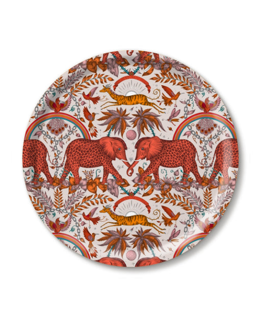 Zambezi Orange Round Tray