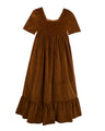 Clover Dress, Chocolate Velvet