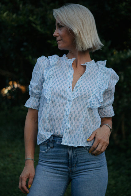 Hartley Blouse, Pale Blue