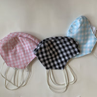 Pink Gingham Face Mask