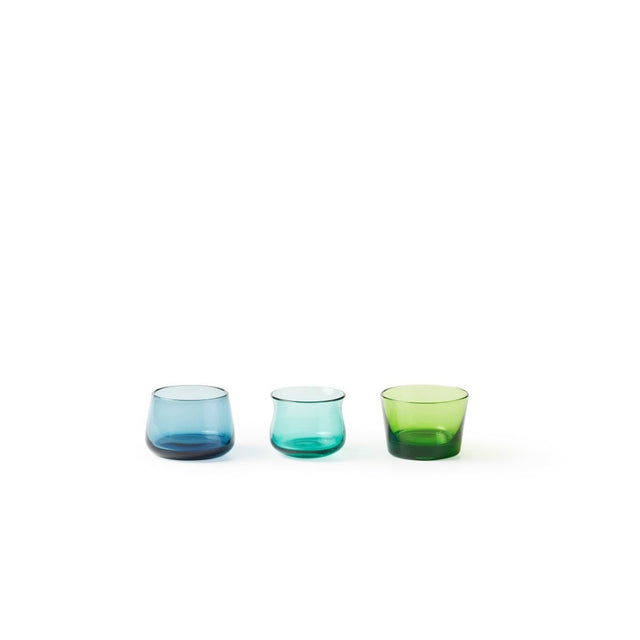 Tea Lights, Green Blue Turquoise
