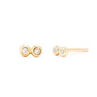 Diamond & Gold Tiny Infinity Studs