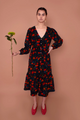 Orchard Dress, Navy Floral Corduroy