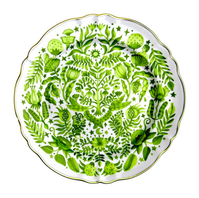 All Over Green Round Platter