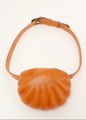 Leather Shell Belt Bag, Natural