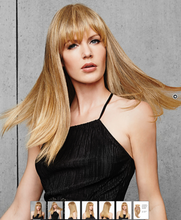 Load image into Gallery viewer, COVER YOUR ROOTS GIRL!  W FRINGE.  Luxury Heat Friendly Synthetic Topper - 20% Off