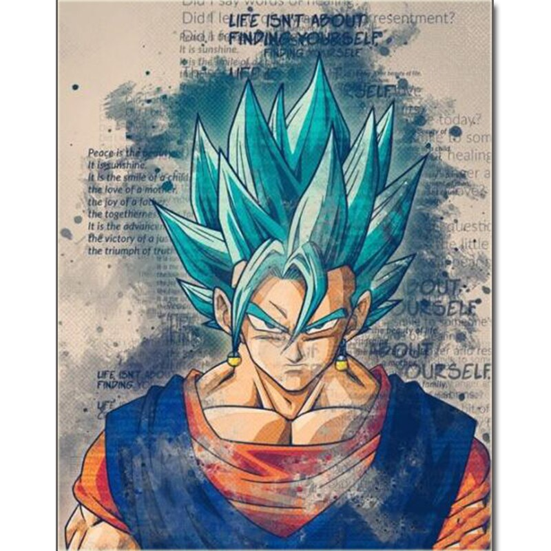 Custom Dragon ball Z Oil Painting