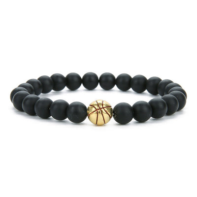 Basketball Bracelet | Beaded Basketball Charm Bracelet