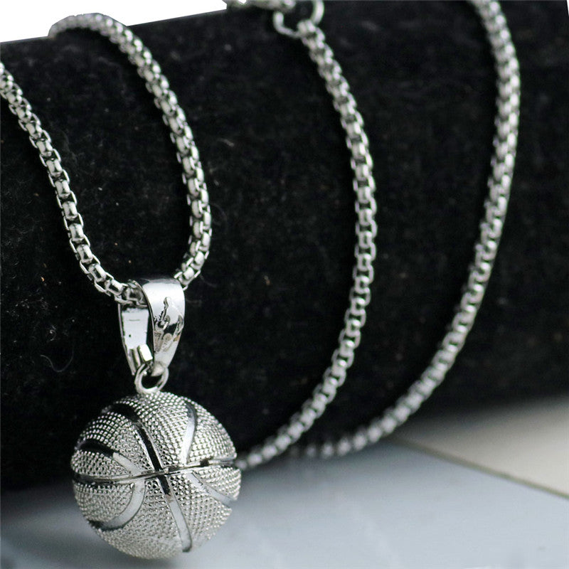 Iced Out 3D Basketball Pendant & Chain