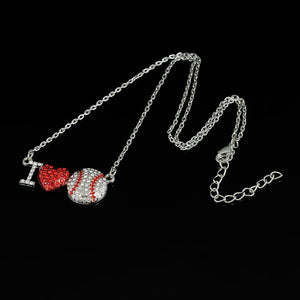 Baseball Pendant & Chain