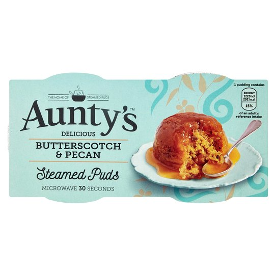 Aunty's Pecan/Butterscotch Steamed Pudding Pots (2 x95g)