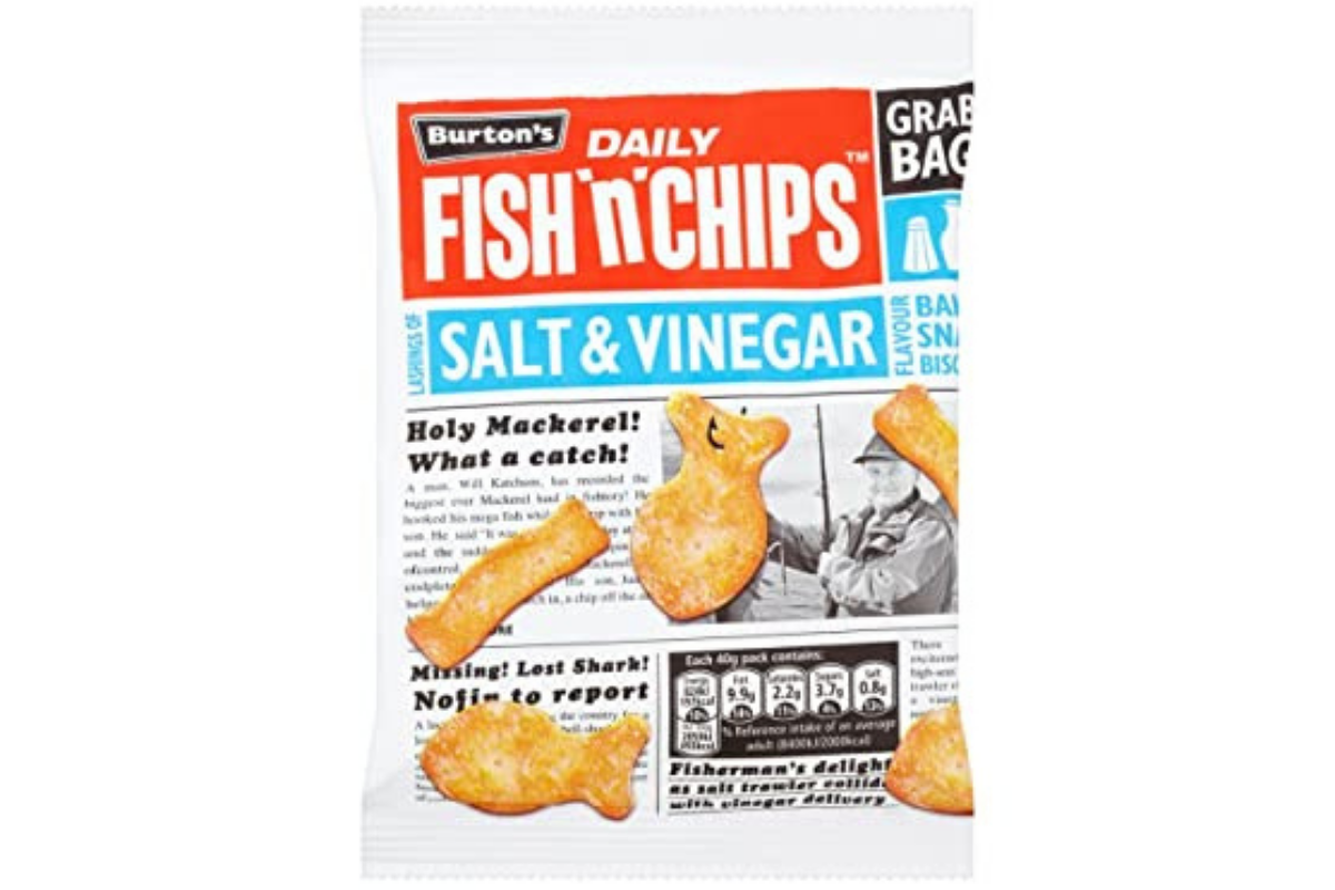 Burton's Fish and Chips Salt and Vinegar (5 x 25g)