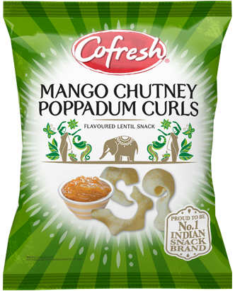 CoFresh Mango and Chutney Poppadum Curls
