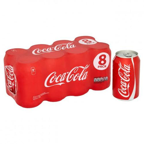 Drink - Coca Cola 8-pack cans