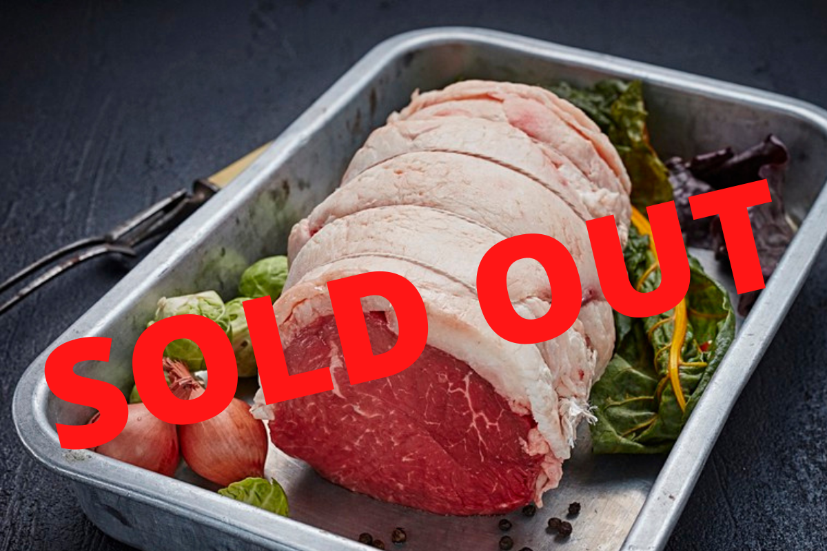 SOLD OUT Galloway Beef - Top Rump Joint (two size options)