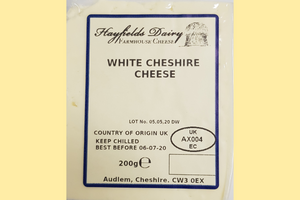 Hayfields Dairy - White Cheshire Cheese 200g