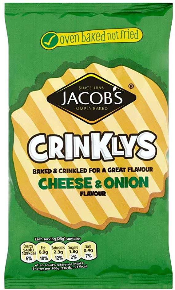 Crisps & Snacks - Jacob's Mini Cheddars Crinkly Cheese and Onion 105g