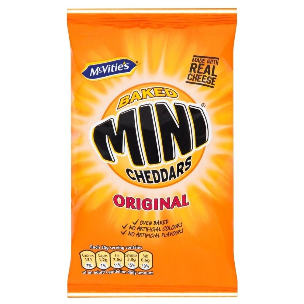 Crisps & Snacks - Jacob's Mini Cheddars 105g