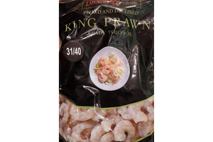 Raw Prawns  Lucky Red  1kg