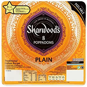 Poppodums - Sharwoods Plain Extra Large