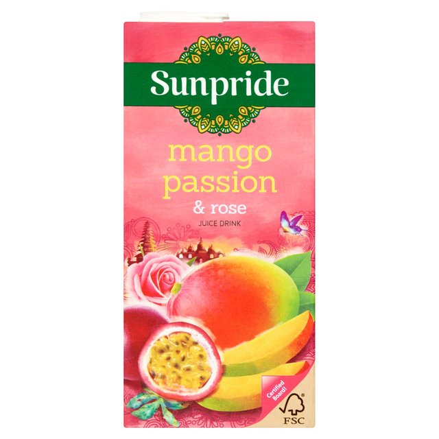 Drink - Sunpride Mango Passionfruit and Rose Juice - 1ltr carton