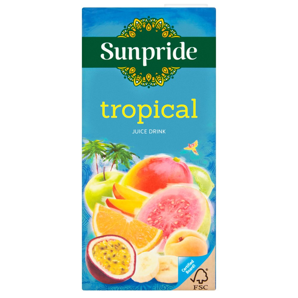 Drink - Sunpride Pineapple Guava Banana and Ginger  - 1ltr carton