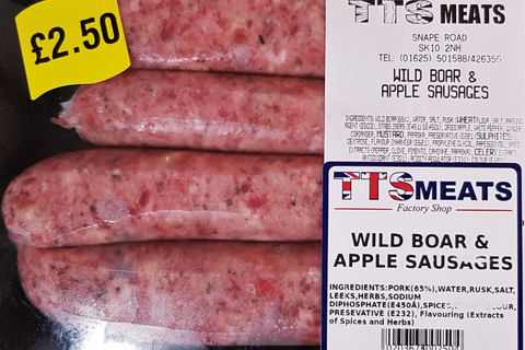 Wild Boar and Apple Sausages  (avg. 320g)