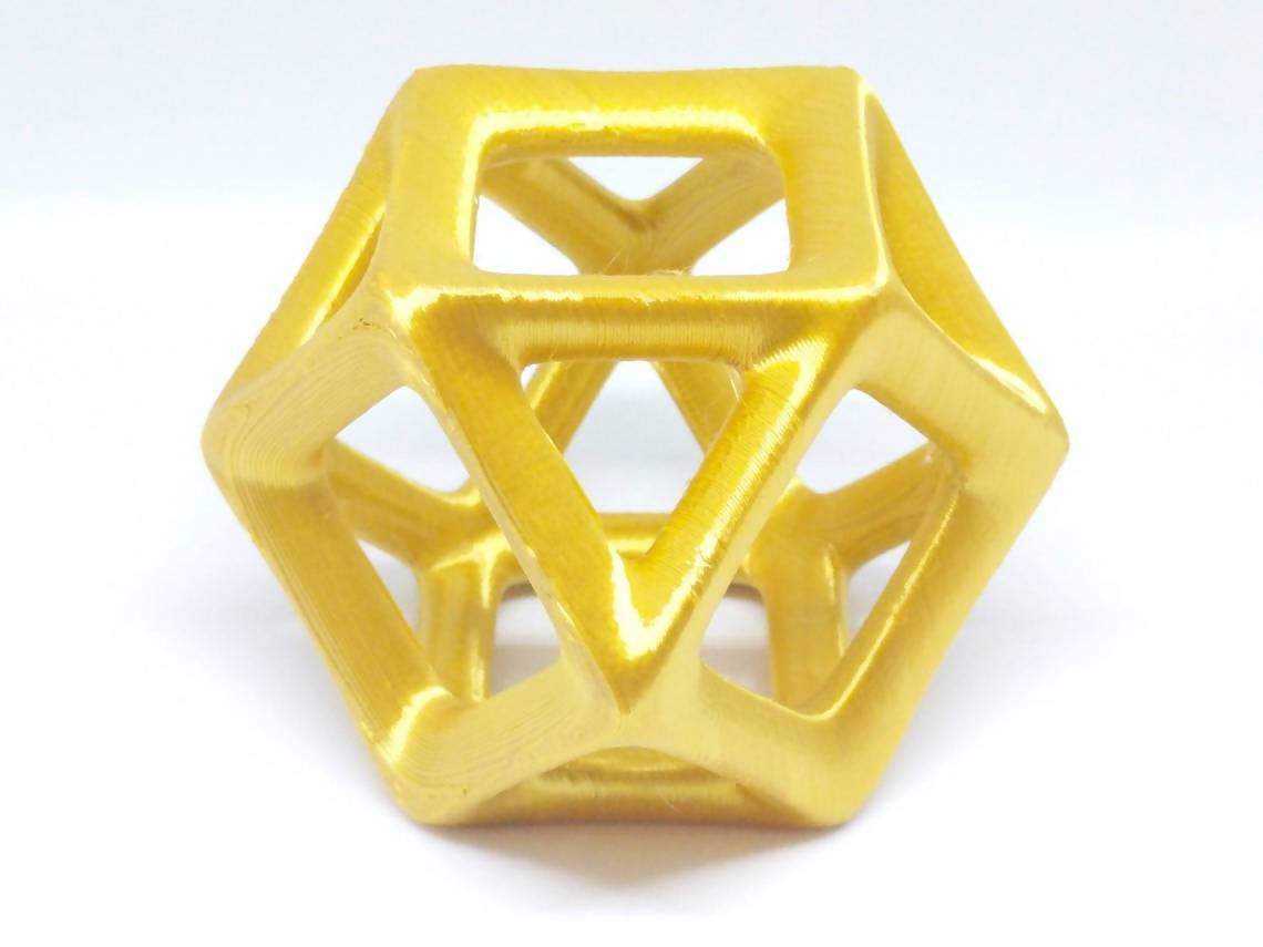 Cuboctahedron 3D Printed Geometric Model - Multiple Sizes & Colors Available - Desktop Hypercube - Modern Home Decor