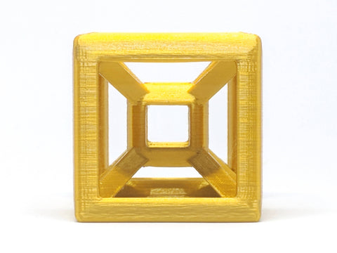 Tesseract 3D Printed Geometric Model - Multiple Sizes & Colors Available - Desktop Hypercube - Modern Home Decor