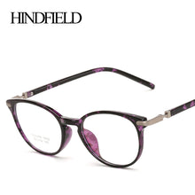 Load image into Gallery viewer, HINDFIELD Vintage Round TR90 Optica Glasses Frame Women Brand Designer Fashion Men Clear Lens Eyeglasses