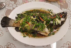 Steamed Grouper in Traditional Hong Kong Style