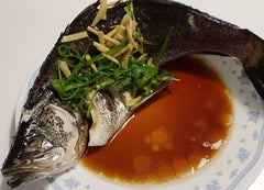 Steamed Sea Bass Cantonese Style