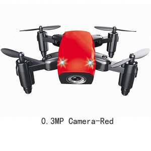 Mini Drone With HD 0.3mp Camera wifi Foldable RC Helicopter aerial drones Wifi FPV Pocket Dron RC Quadcopter toys for gift