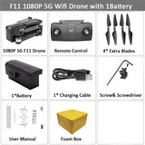 SJRC F11 GPS Drone Selfie RC with 1080P 2K HD Camera WiFi FPV 25mins Flight Time Brushless Quadcopter Foldable Arm Dron Vs CG033
