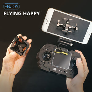 Mini Unmanned Aerial Vehicle Quadrocopter Folding Mini Drone Camera 720P High Hold Mode Small Helicopter Boy Toys VS S9HW H8 H48