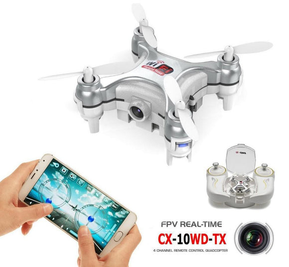 Cheerson CX-10WD-TX 2.4GHz 4CH 6-axis Wifi FPV Quadcopter 3D Eversion Mini Drone With 0.3MP Camera RC Toys Children Gifts