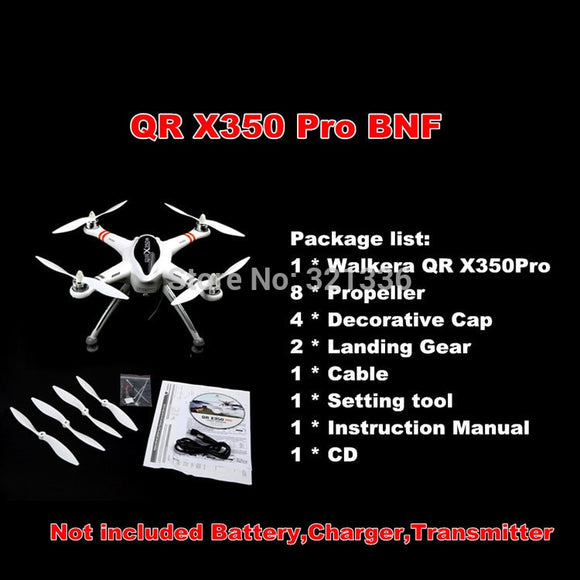 NEW 2014 Upgrade Version WALKERA QR X350 Pro GPS Drone 6CH Brushless UFO DEVO F7 Transmitter RC Helicopter Quadcopter For Gopro
