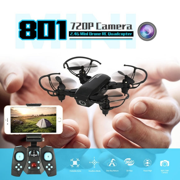 2.4G 720P Mini RC camera Drone Wifi FPV Foldable Altitude Hold Quadcopter Remote Control Helicopter Toys